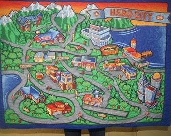 Play Mat City Roadway Quilt