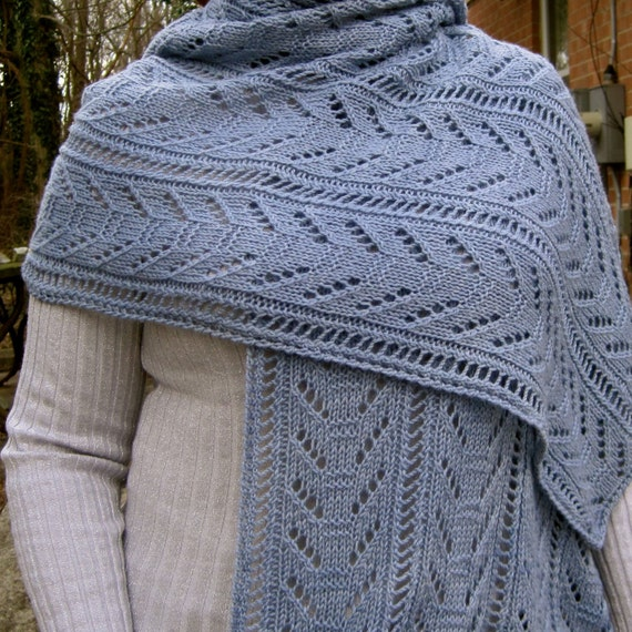 Ladder Lace Knitting Pattern : Knit Wrap Pattern: Double Lace Ladder by WearableArtEmporium