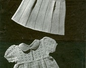 Templetons 752 Vintage Knitting Pattern Babies Dresses for Babies - Two Patterns