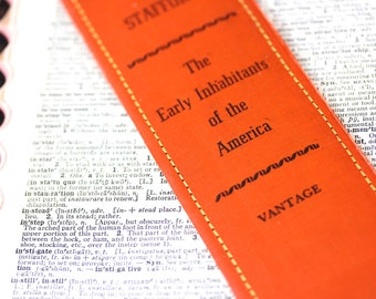 Book Spine BOOKMARK /// The Early Inhabitants of the America /// Teacher Gift