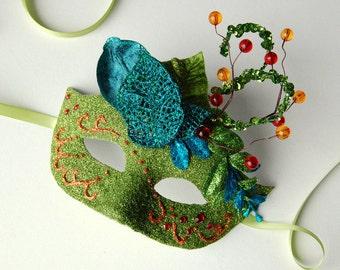 MASK- Sunset in Spring - masquerade mask, Mardi Gras, fairy,Venetian, Halloween