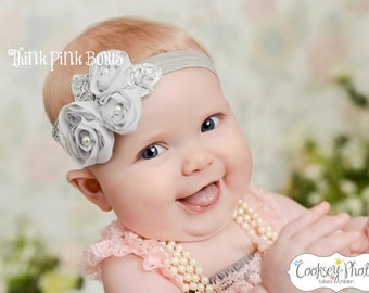 Baby Headband,Baby girl Headband,Newborn Headband,Infant headband,Girls Headband,Fower Headband,Shabby chic Headband,baby bows.