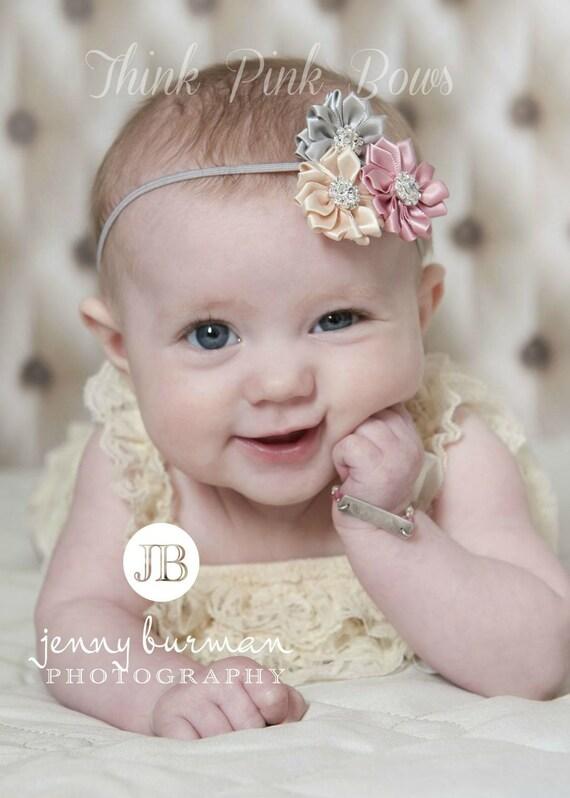 newborn baby headband bows baby headband flower items similar to baby headband newborn headband flower