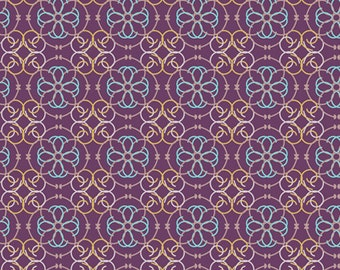 Mosaic in Purple BA-309 - BAZAAR STYLE - Patricia Bravo for Art Gallery Fabrics - By the Yard