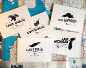 The Great Lakes - Set of 5 prints