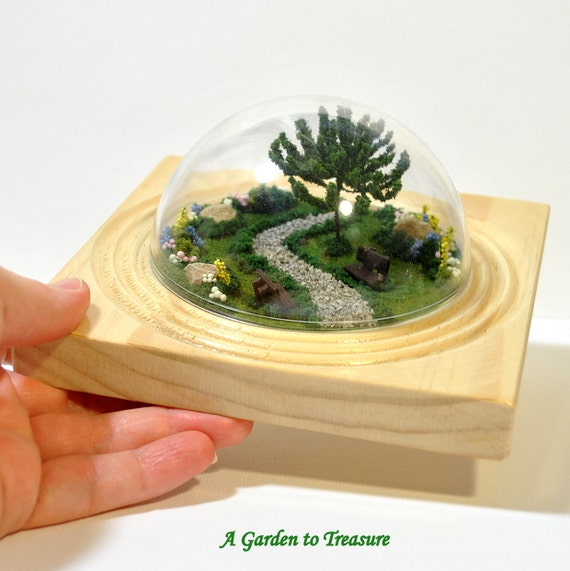 Another Day in the Park Miniature Terrarium Garden 4 inch