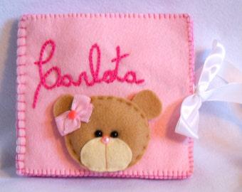 Personalized Handmade Kids - Baby Felt Name Book