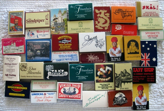 34 vintage matchboxes all empty reuse repurpose crafts collect for Blank matchboxes for crafts