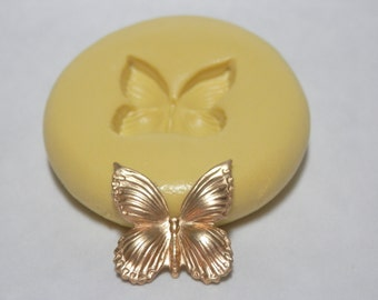 Tiny SOLID BUTTERFLY - Flexible Silicone Mold - Jewelry Mold, Polymer Clay Mold, Resin Mold, Craft Mold, PMC Mold