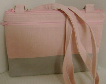 Pink and Grey Crossbody Kindle Case Ereader Carrier Hipster Purse