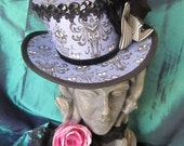 Haunted Mansion, Halloween, Victorian, Steampunk, Gothic Mini Top Hat