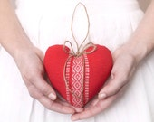 Cottage Heart - Red Scandinavian Style Plush Ornament