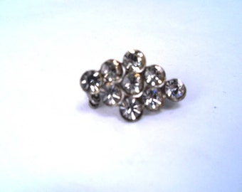 Rhinestone Pin Diamond Shaped Vintage