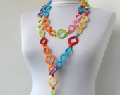 Collection Summer Fiesta - Multicolor Crocheted Necklace / Scarflette / Belt