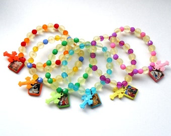 Colourful Children Rosary Bracelet - Personalized with Initial
