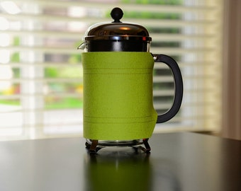 "Large French Press ""Bean Belt"" Coffee Cozy - 12 cup (51oz, 1.5L)"