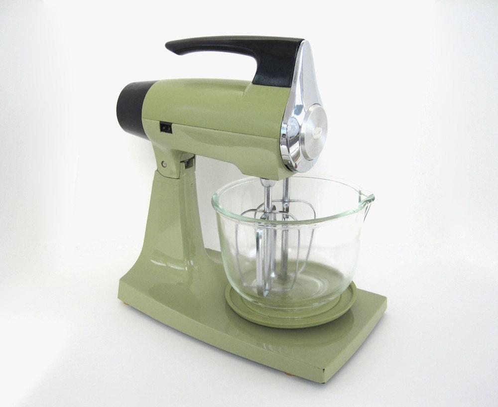 Toy Hand Mixer ~ Vintage stand mixer avocado green sunbeam mixmaster s