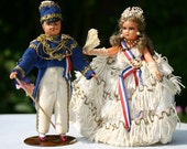 French Costume Dolls Napoleon III and Empress Eugenie 1950s