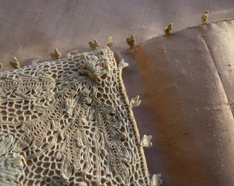 Wild Silk and Vintage Lace Clutch Bag