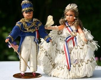French Costume Dolls Napoleon III and Empress Eugenie 1950s