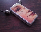 Domino Art Necklace- recycled game piece jewelry