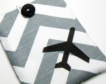 Passport Cover / Chevron Passport Case / Travel Accessory / Passport Pocket / Airplane pouch / travel lover gift / stocking stuffer