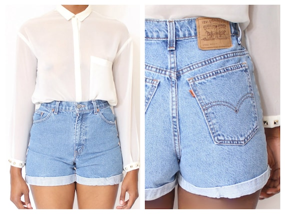 ALL SIZES Cut Off Rolled Up LEVI'S Vintage High Waisted