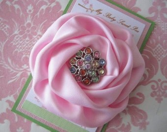 Girl hair clips - flower hair clips - birthday hair clips - girl barrettes