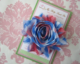 Girl hair clips - fourth of July hair clips - girl barrettes