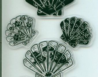 Clear Stamp Patterned Shells, Perfect for Your Ocean, Travel, Vacation Project