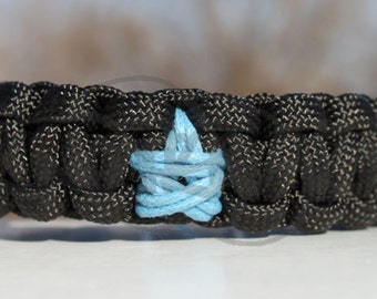 "550 Paracord Survival Strap Bracelet Anklet with Star & 3/8"" Buckle"