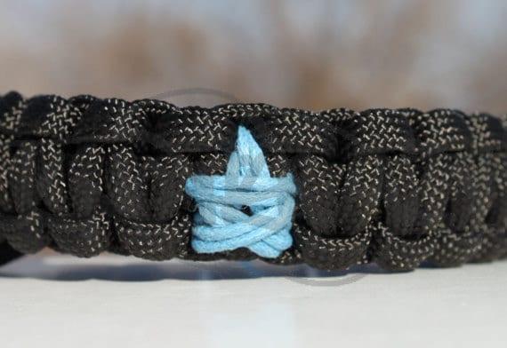 "550 Paracord Survival Strap Bracelet Anklet with Star & 3/8"" Buckle"