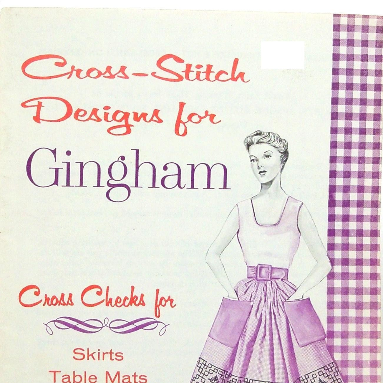 Vintage s gingham embroidery patterns cross stitch pdf