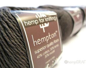 Hemp Cotton Yarn, Grey Pewter, 130yd Hemp/Cotton/Modal Blend