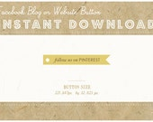 INSTANT DOWNLOAD - PINTEREST Flag Button - Blog or Website Social Icon - Vintage Swallowtail Flag Button