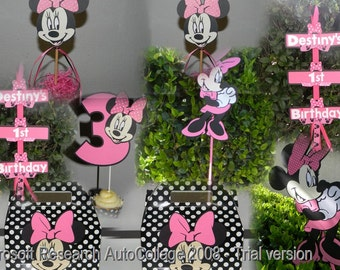 Minnie Mouse Party Package - Pink/White