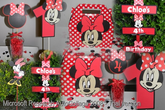 Items similar to Minnie Mouse Party Package - Red/White on Etsy