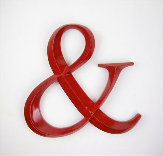 Black Ampersand Wall Decor : Items similar to large red ampersand wall decor big