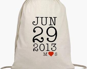 Wedding Welcome Backpacks - Drawstring Bags, Wedding Goodie Bag