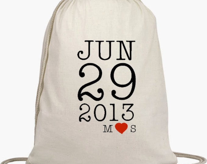 Wedding Welcome Backpacks - Drawstring Bags, Wedding Goodie Bag