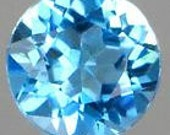 50% OFF LIST PRICE - One - 3mm Round Natural Swiss Blue Topaz Faceted Gemstone