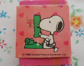The Pink Snoopy Eraser.80s
