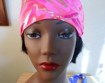 Neon Pink Headband in Stretch Lycra