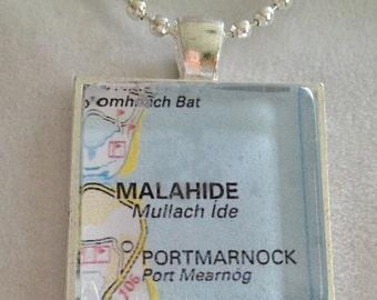 Irish City Map Necklace