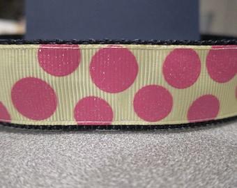 Party Polka Dots Glitter Dot Adjustable Dog Collar