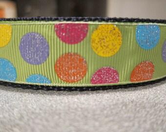 Spring Glitter Polka Dot Adjustable Collar