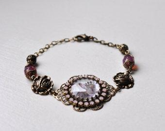 The Royal Easter Bunny Bracelet, Crystal And Brass Photo Bracelet