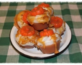 Pumpkin Caramel Latte Primitive Grubby Pumpkin Holiday Cupcake Scented Wax Tarts Melts- Bowl Fillers