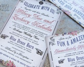 Boardwalk Bride, Carnival Wedding Invitation with Vaudeville theme and Filigree Flourishes. Custom colors, font styles and wording... FREE