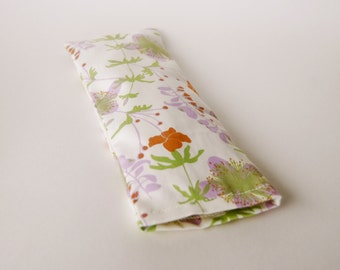 Eye Pillow Case - Eco Home Spa - Floral - Organic Cotton  - Eco Friendly